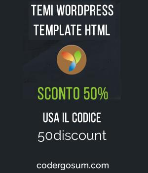 Temi Wordpress & HTML per il tuo sito